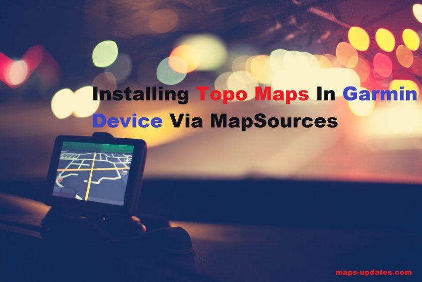 Garmin Device Via MapSources